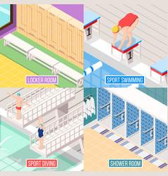 sport swimming design concept vector image vector image