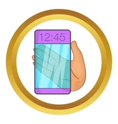 Transparent smartphone icon vector image vector image