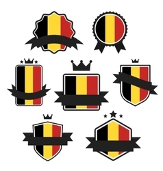 World flags series flag of belgium vector