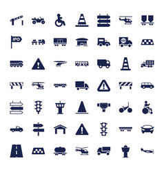 49 traffic icons vector