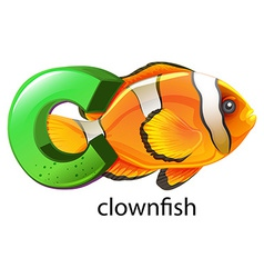A letter C for clownfish vector