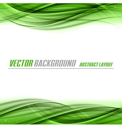 Abstract green white center vector