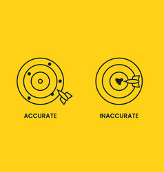 Antonyms with precision and imprecision hitting vector
