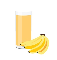 Banana juice vector image