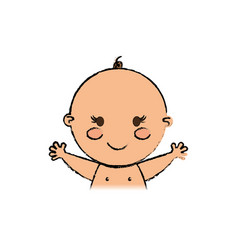Beautiful baby cartoon vector