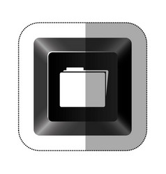 Black button file icon vector