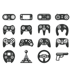 black game console video games joystick playing vector image