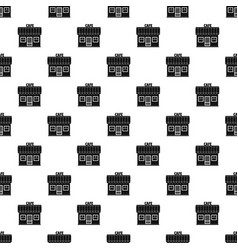 cafe pattern seamless vector image