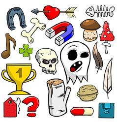 Cartoonish objects vol 6 vector image