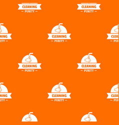 Cleaning purity pattern orange vector