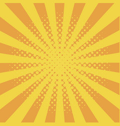 comic background with halftone effect and sunburst vector image