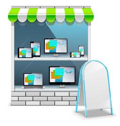 Computer Store vector