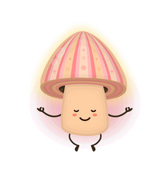 cute smiling happy magic psilocybin vector image