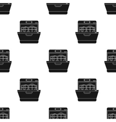 Dishwasher icon in black style isolated on white vector