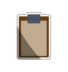 document holder paper sheet vector image