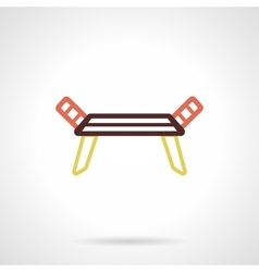 Dryer rack flat color design icon vector image