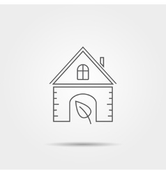 Eco home icon vector