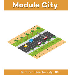 expressway with cars vector image
