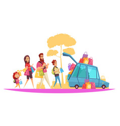 Family active holidays purchases vector
