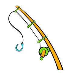 Fishing rod icon icon cartoon vector