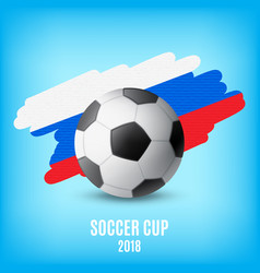 Flag of russia and ball vector