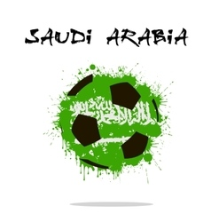 Flag of Saudi Arabia as an abstract soccer ball vector