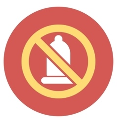 Forbidden Condom Flat Round Icon vector