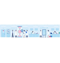 genetic research laboratory professional lab with vector image
