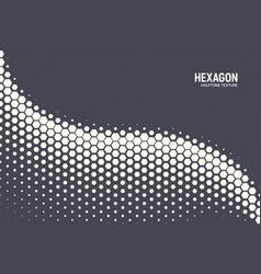 geometric halftone hexagon shapes technology vector image