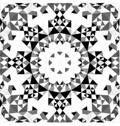 Grey abstract seamless triangle mosaic tile vector