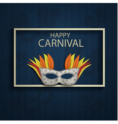 happy carnival concept background realistic style vector image
