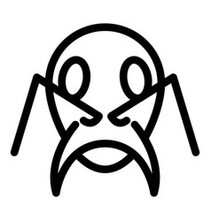 Head ant icon outline style vector