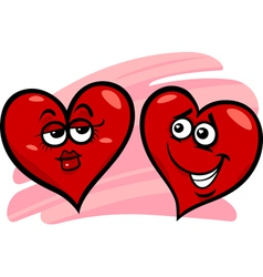 hearts in love cartoon vector image