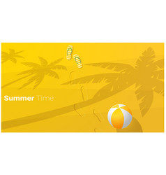 hello summer season background vector image