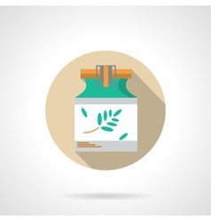 Herbal ointment flat color design icon vector