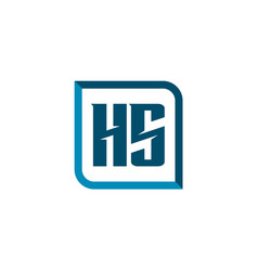 initial letter logo hs template design vector image