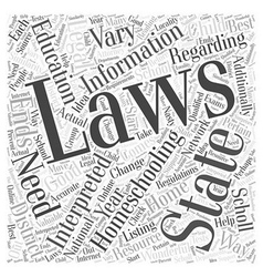 is homeschooling legal dlvy nicheblowercom Word vector image