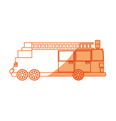 Isolated big firetruck vector