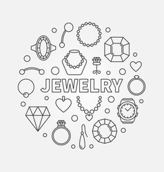 Jewelry minimal round in vector