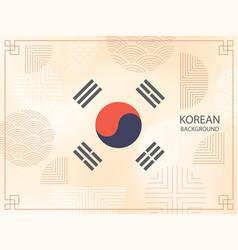 korean background design vector image