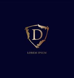 Letter d alphabetic logo design template isolated vector