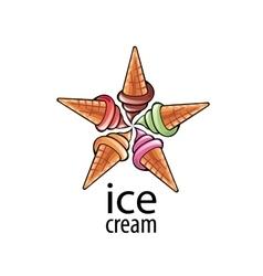 Logo ice cream vector