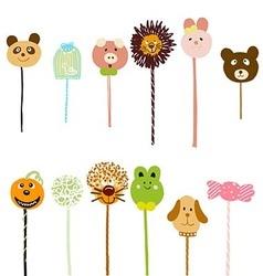 Lollipop doodle vector