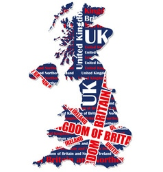 Map of UK vector image