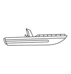 Motor speed boat icon outline style vector
