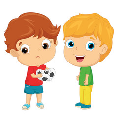 Of happy and unhappy kids vector