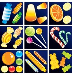 Of sweet goodies set vector