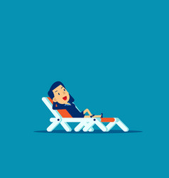 Office man relaxing concept business holiday vector