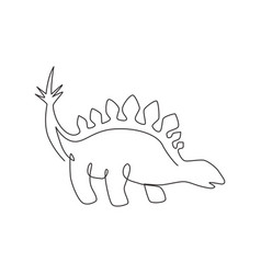 one single line drawing calm thorny vector image