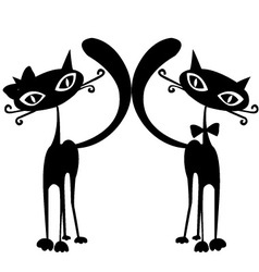 Pair of cats vector